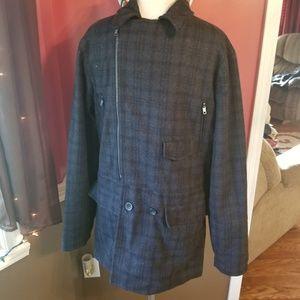 MG Black Label Wool Coat Size Medium